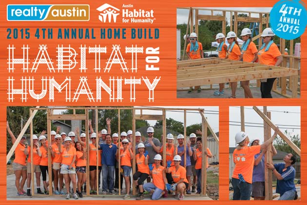 Realty Austin Volunteers for 4th Habitat Home Build