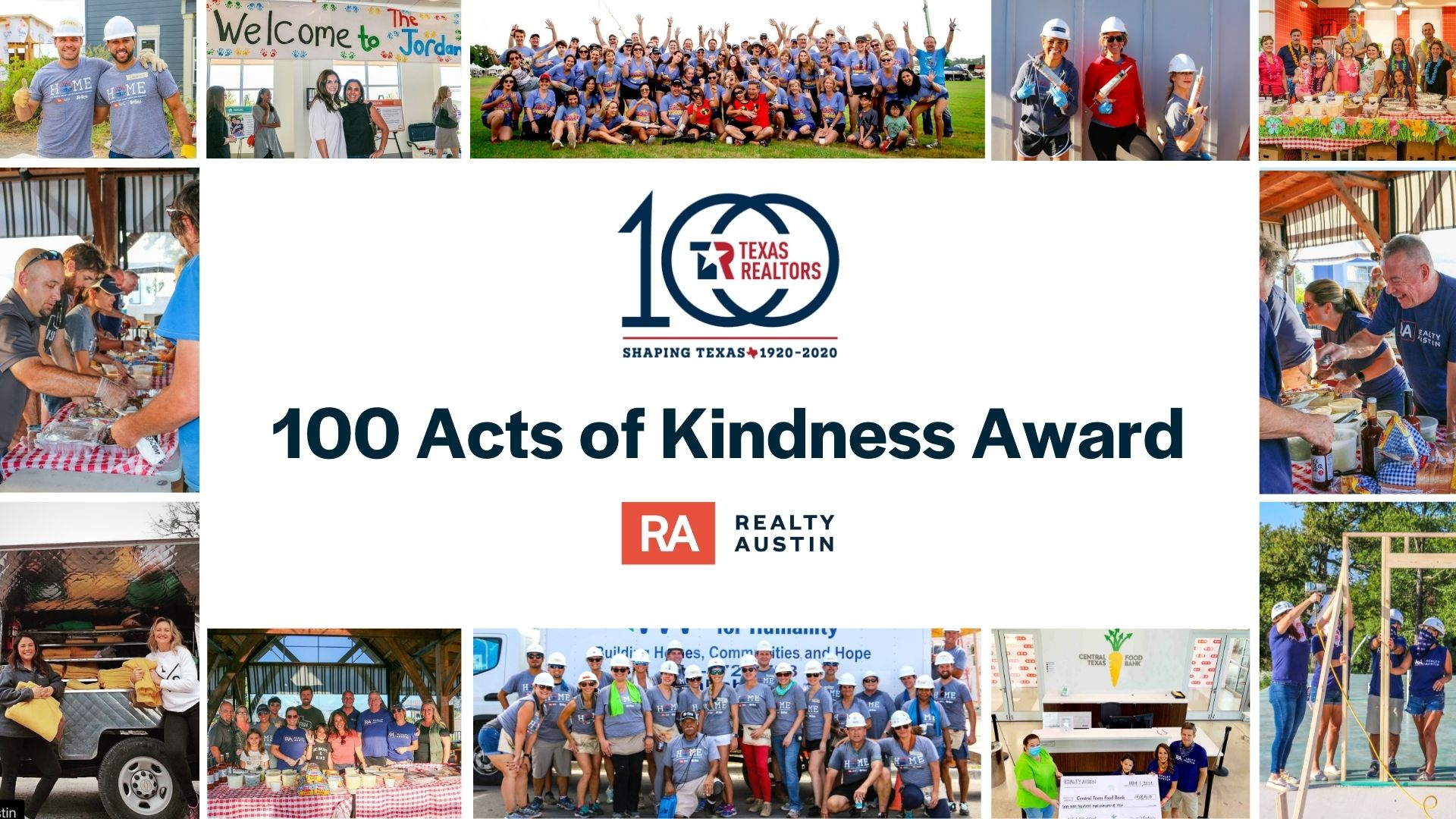 Realty Austin Honored as a Recipient of TAR 100 Acts of Kindness Award