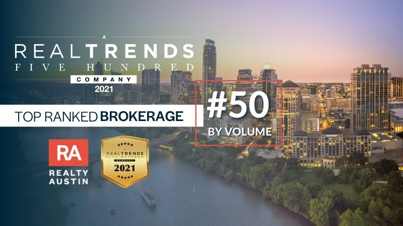 Realty Austin Ranks No.50 on the 2021 REAL Trends 500 Report