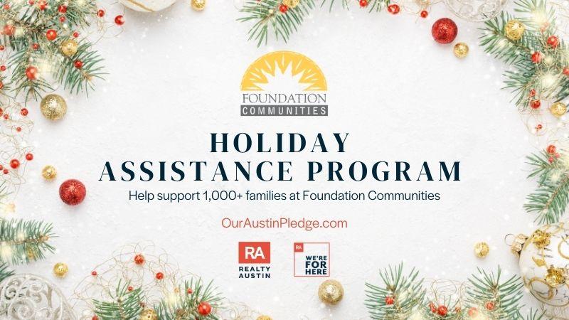 Foundation Communities Holiday Assistance Program   Realty Austin Online Fundraiser