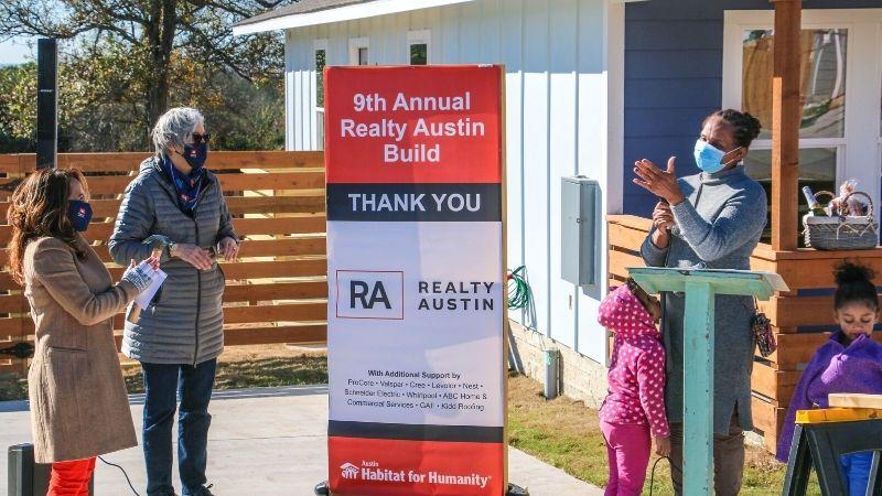 Realty Austin Dedicates Its 9th Austin Habitat For Humanity Home