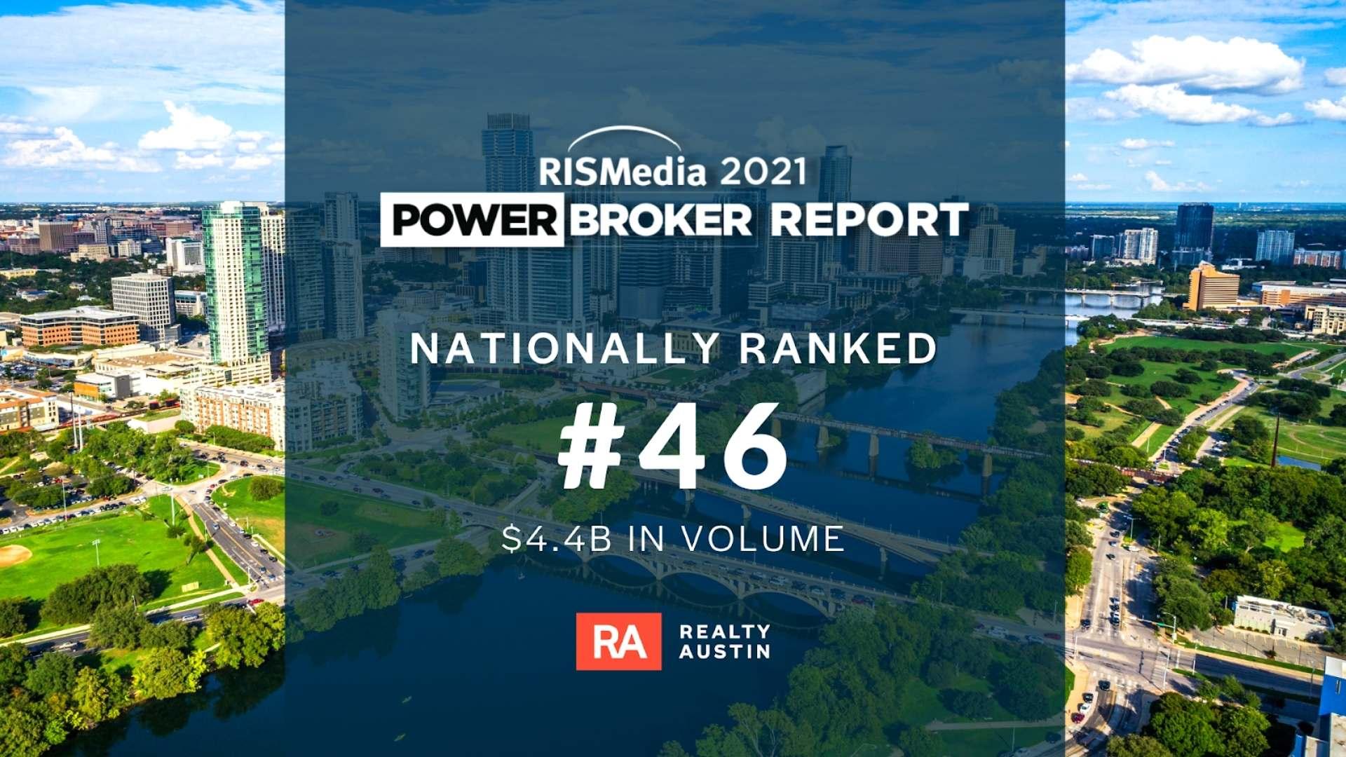 Realty Austin Ranks No. 46 in RISMedia 2021 Power Broker Report