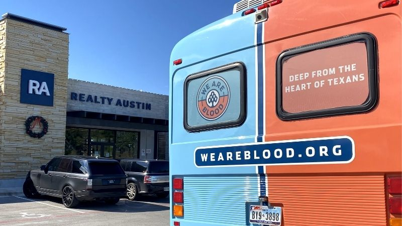 Realty Austin Agents Rally Together For We Are Blood Drive