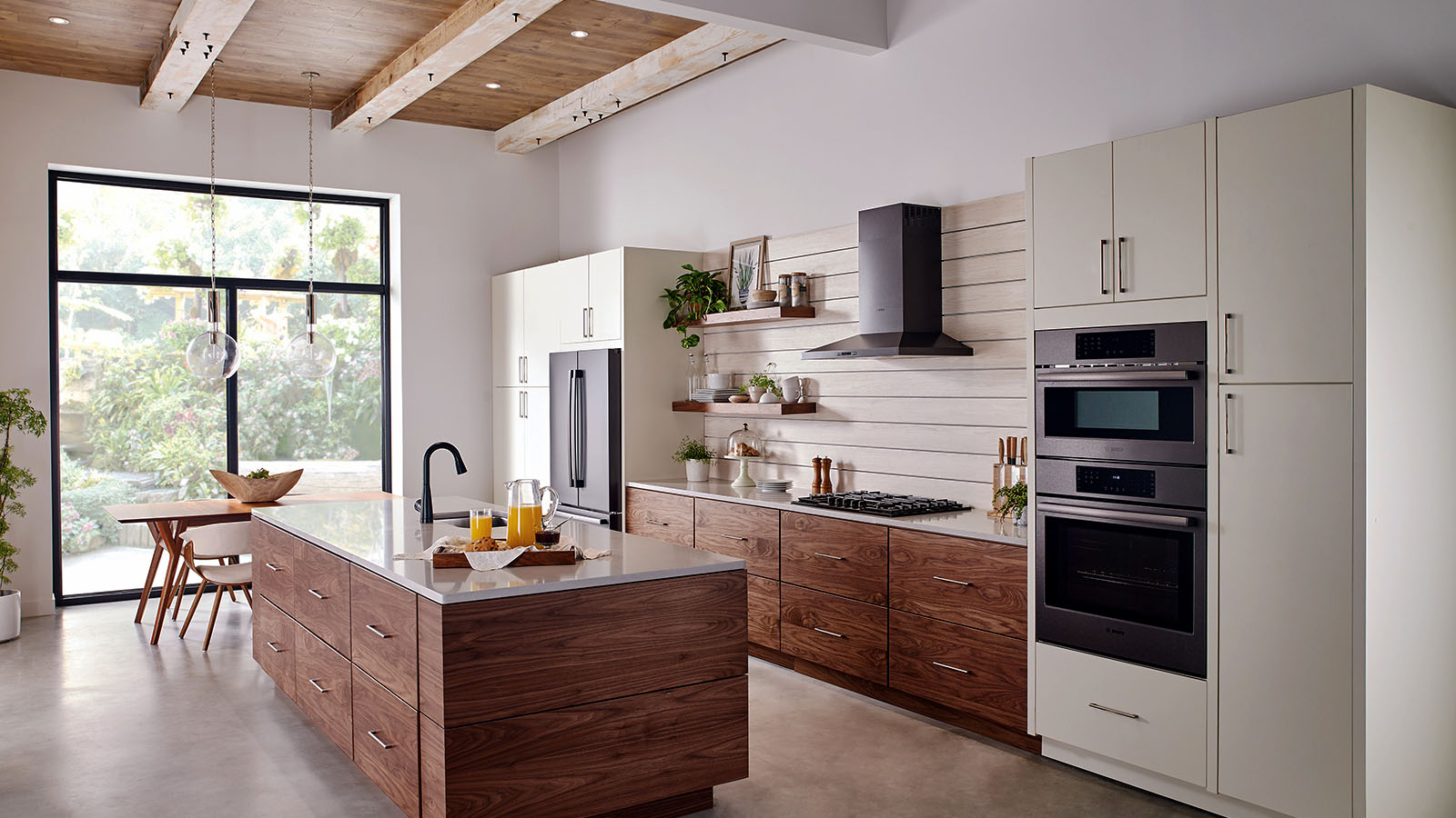 Image of Walnut Kitchen Cabinets