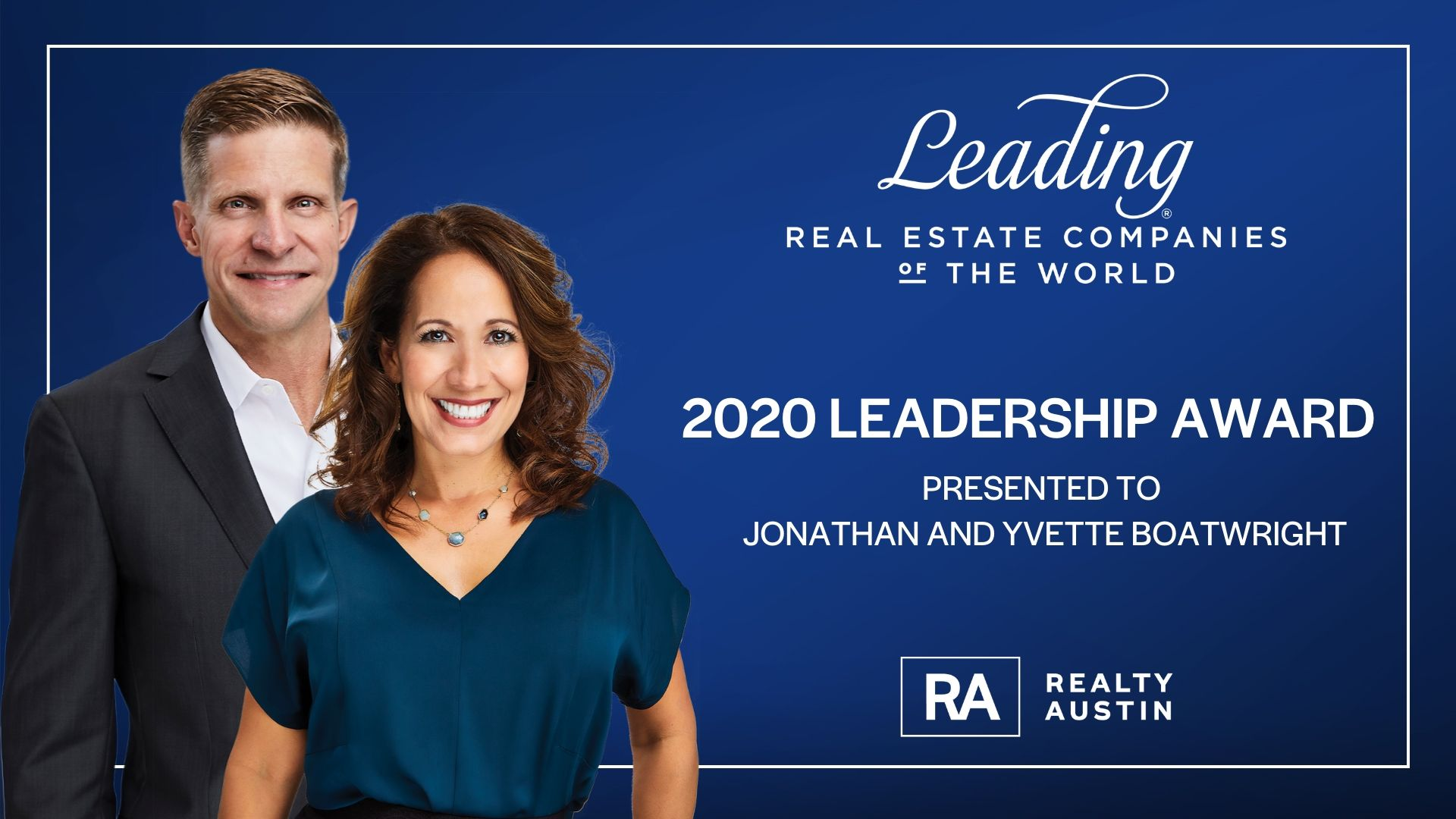 Image of Realty Austin Co-Owners Presented with Leadership Award at Leading Real Estate Companies of the World 2020® Annual Conference