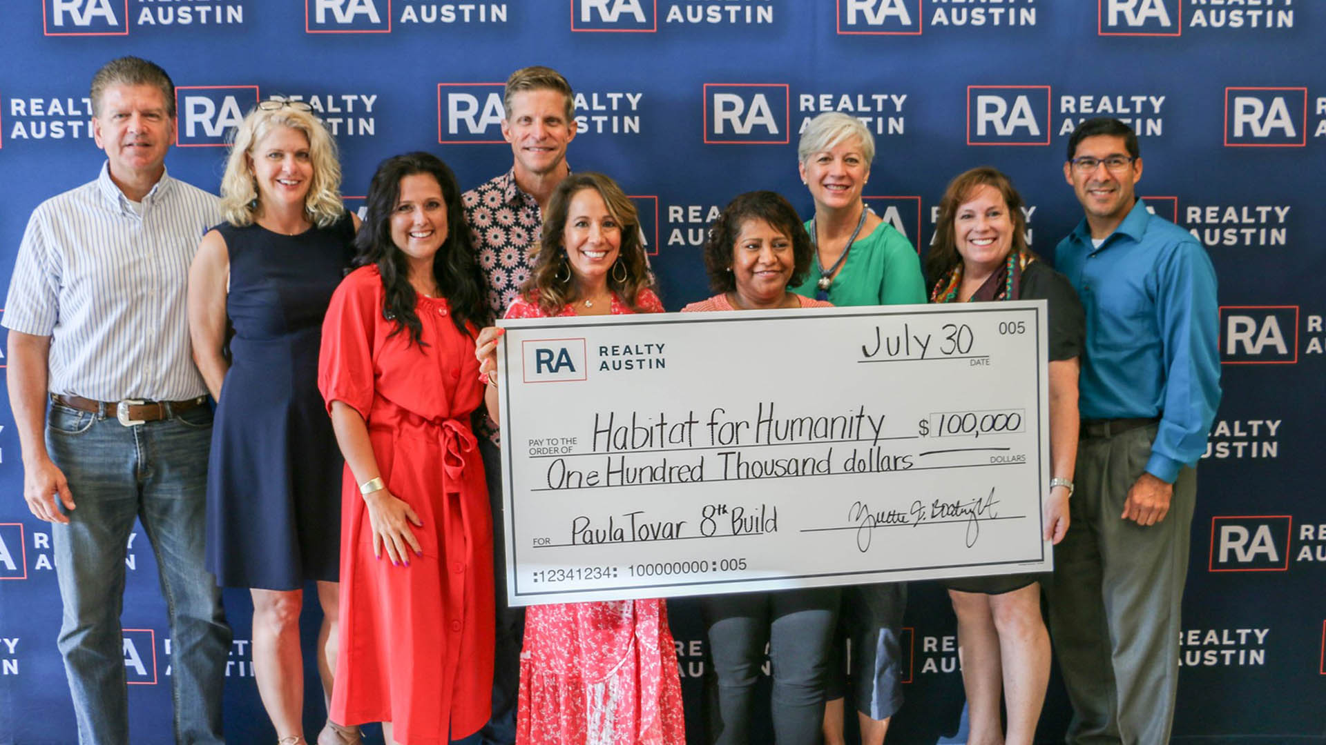 Image of Realty Austin Raised $100,000 for Austin Habitat for Humanity 2019