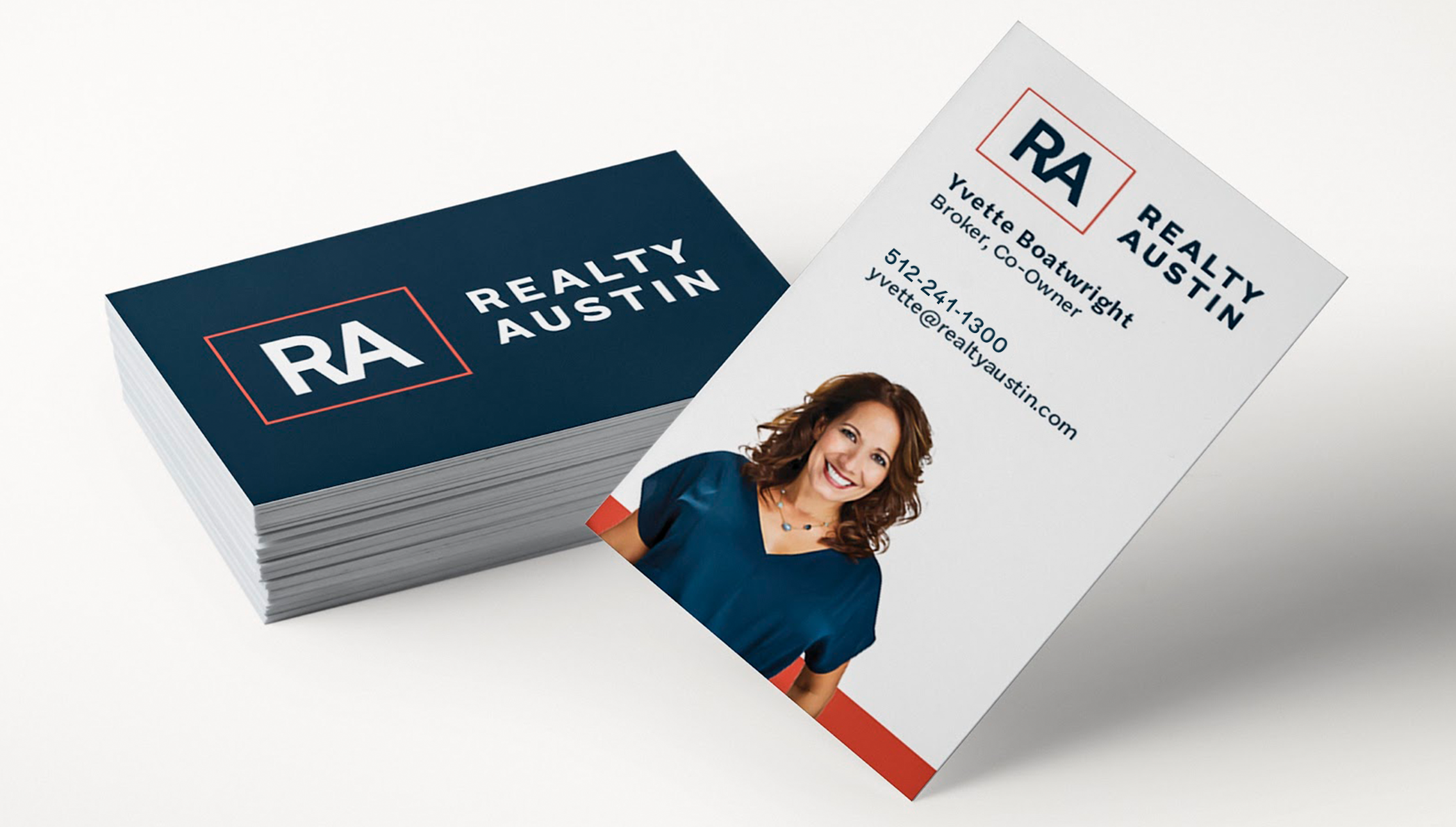 Realty Austin Rebranded Business Cards