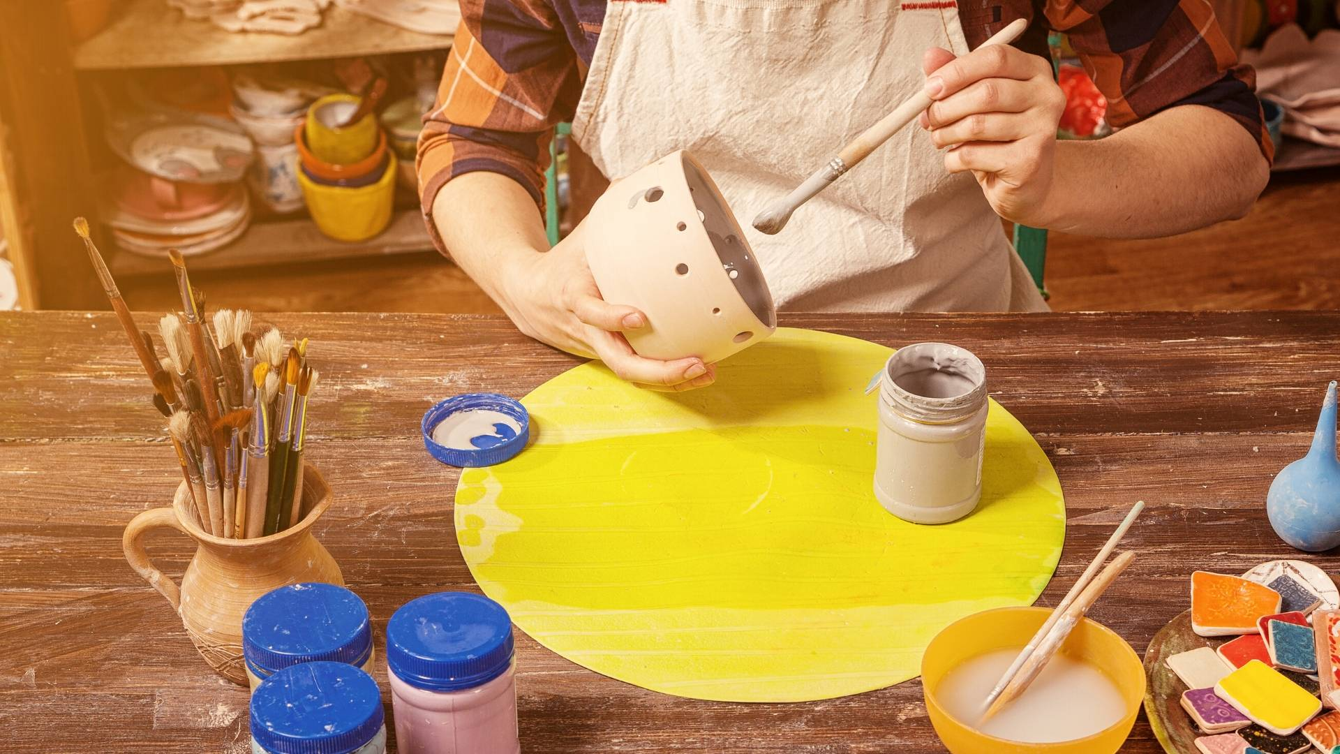 Image of Painting Flower Pots
