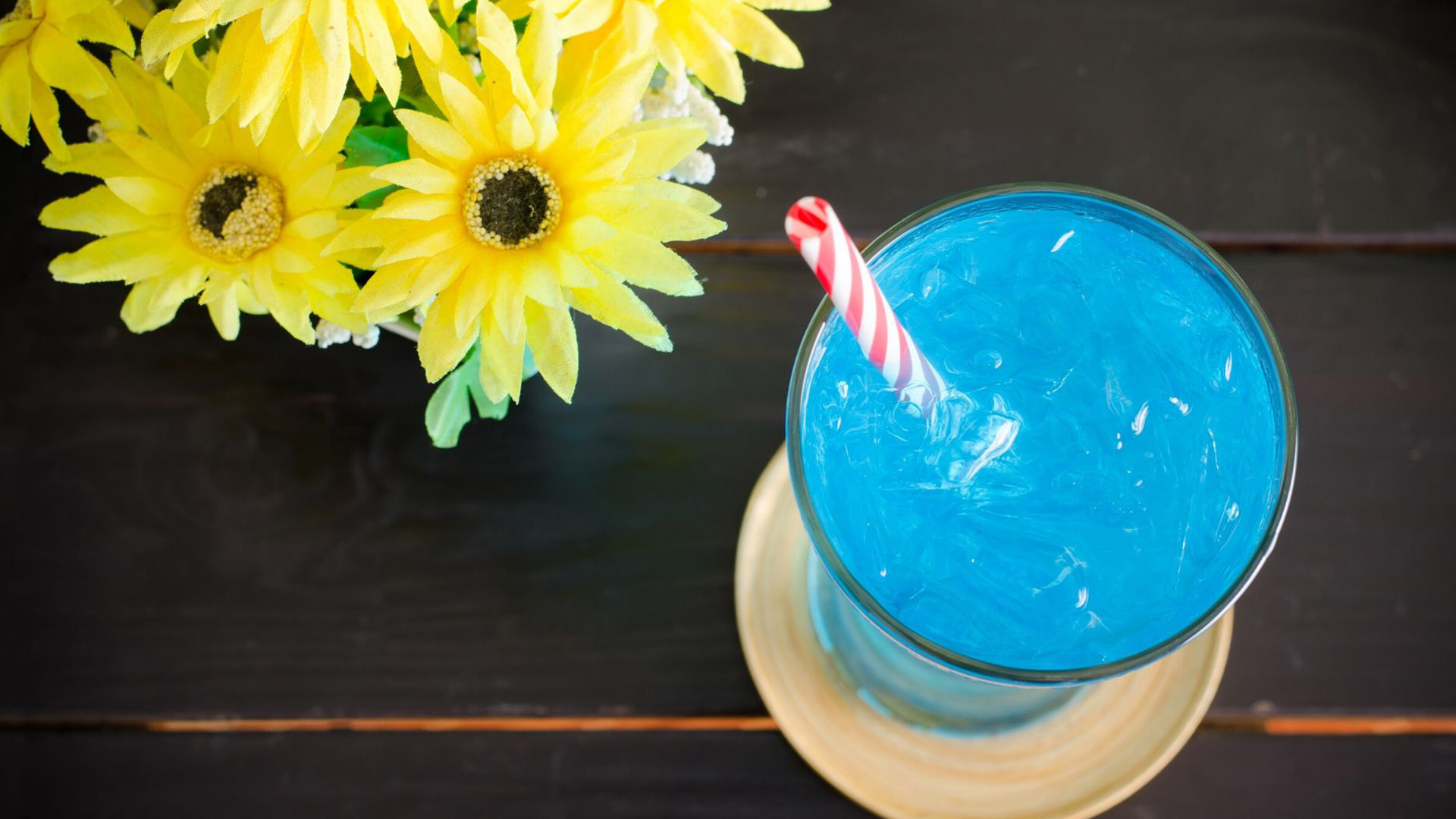 Image of Sparkling Blue Mocktail