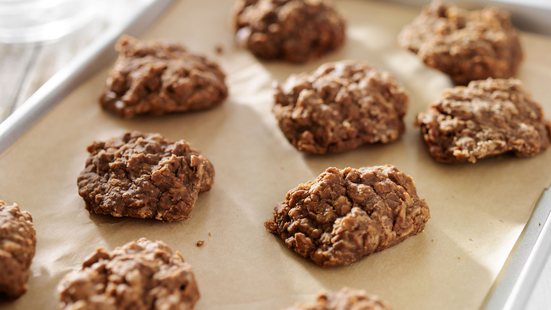 Image of Peanut Butter No-Bake Cookies with Oats and Flax Seeds