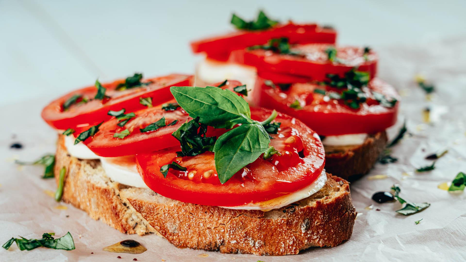 Image of Tomato Basil Mozzarella Toast
