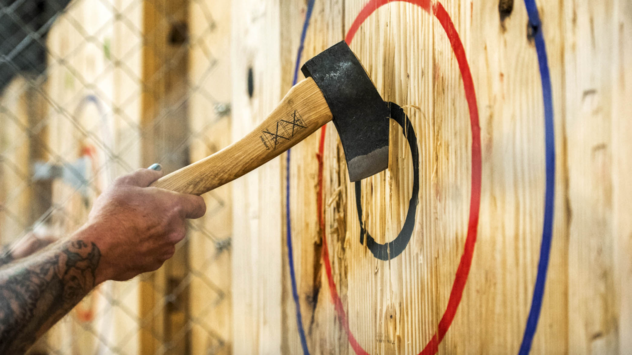 Image of Valentine's Day with Drinks and Axe Throwing