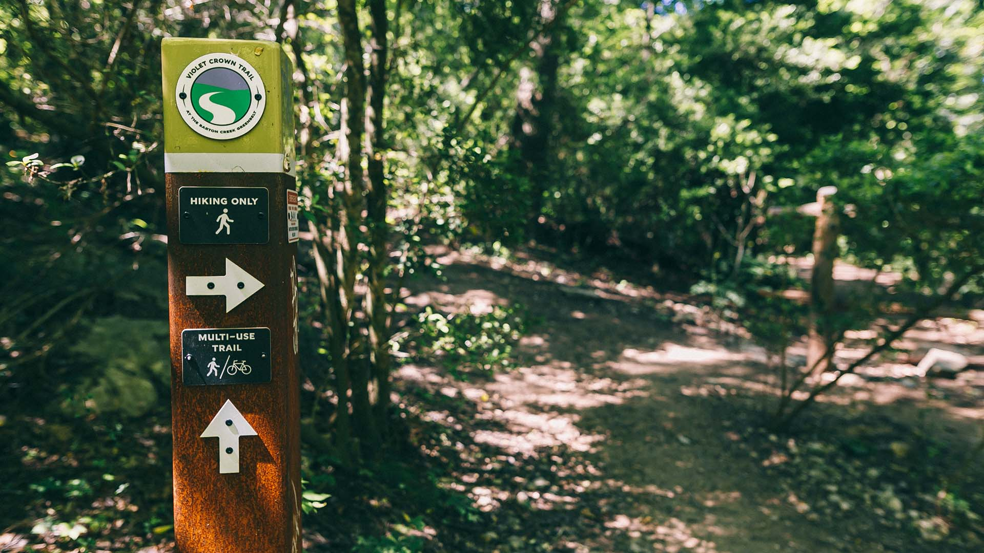 Image of Barton Creek Greenbelt Hiking Path Sign