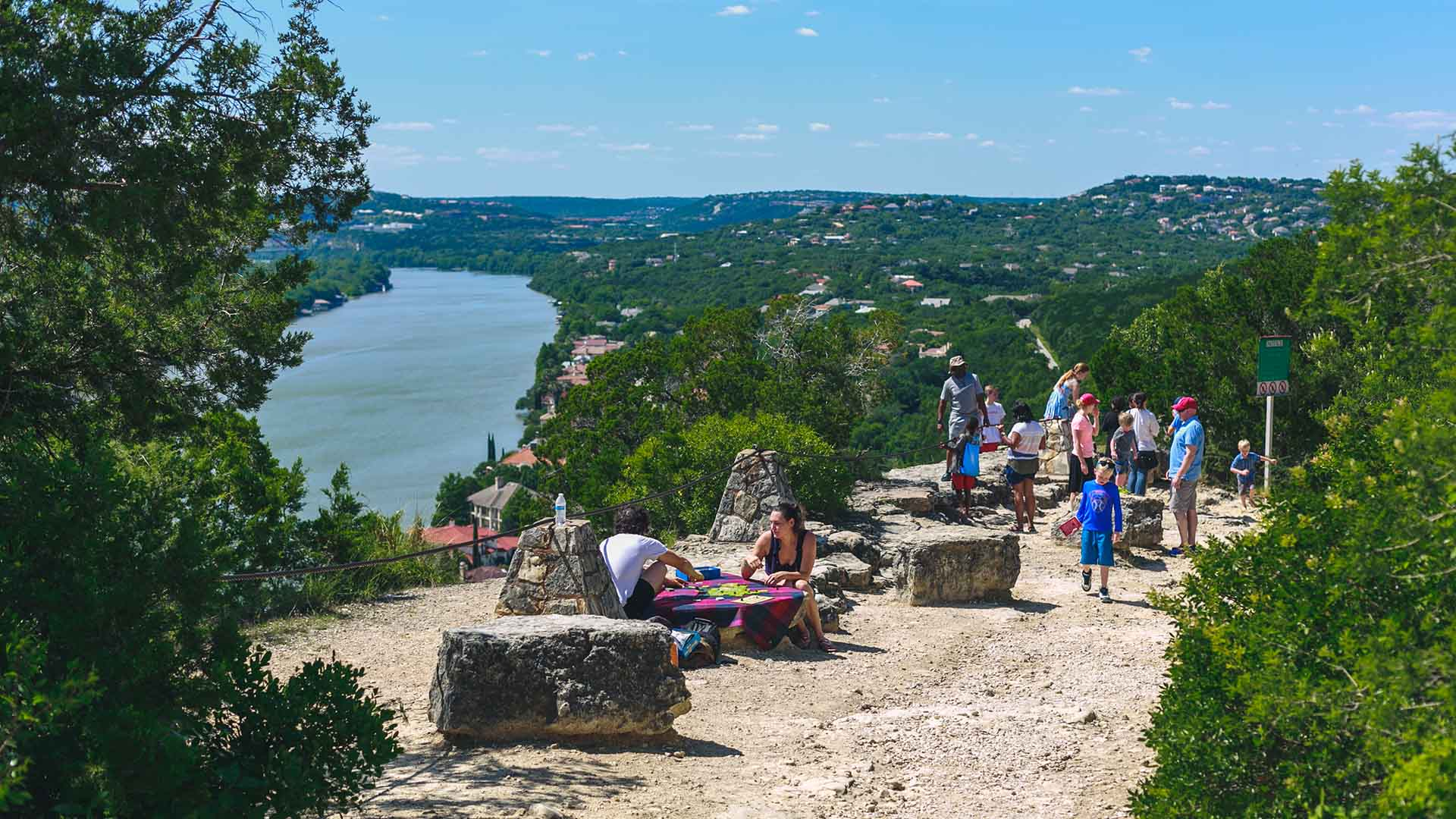 Image of Mount Bonnell overlooking Lake Austin