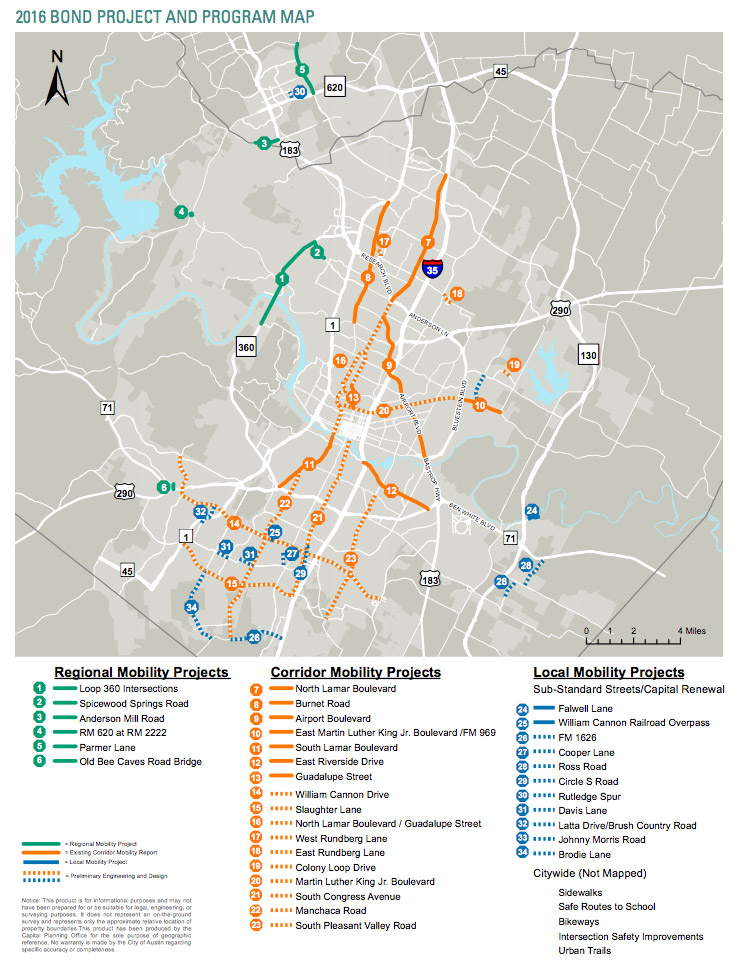 Image of mobility bond projects map