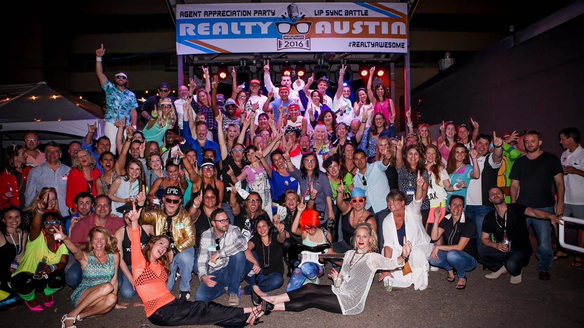 Image of Realty Austin Agents at the 2016 Summer Party