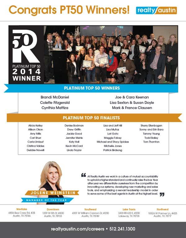 Austin's Platinum Top 50 Agents