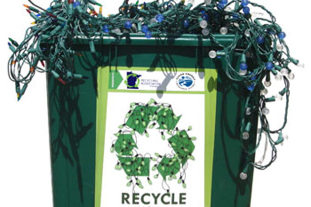 Image of City of Austin Recycling Christmas Lights in Austin, TX