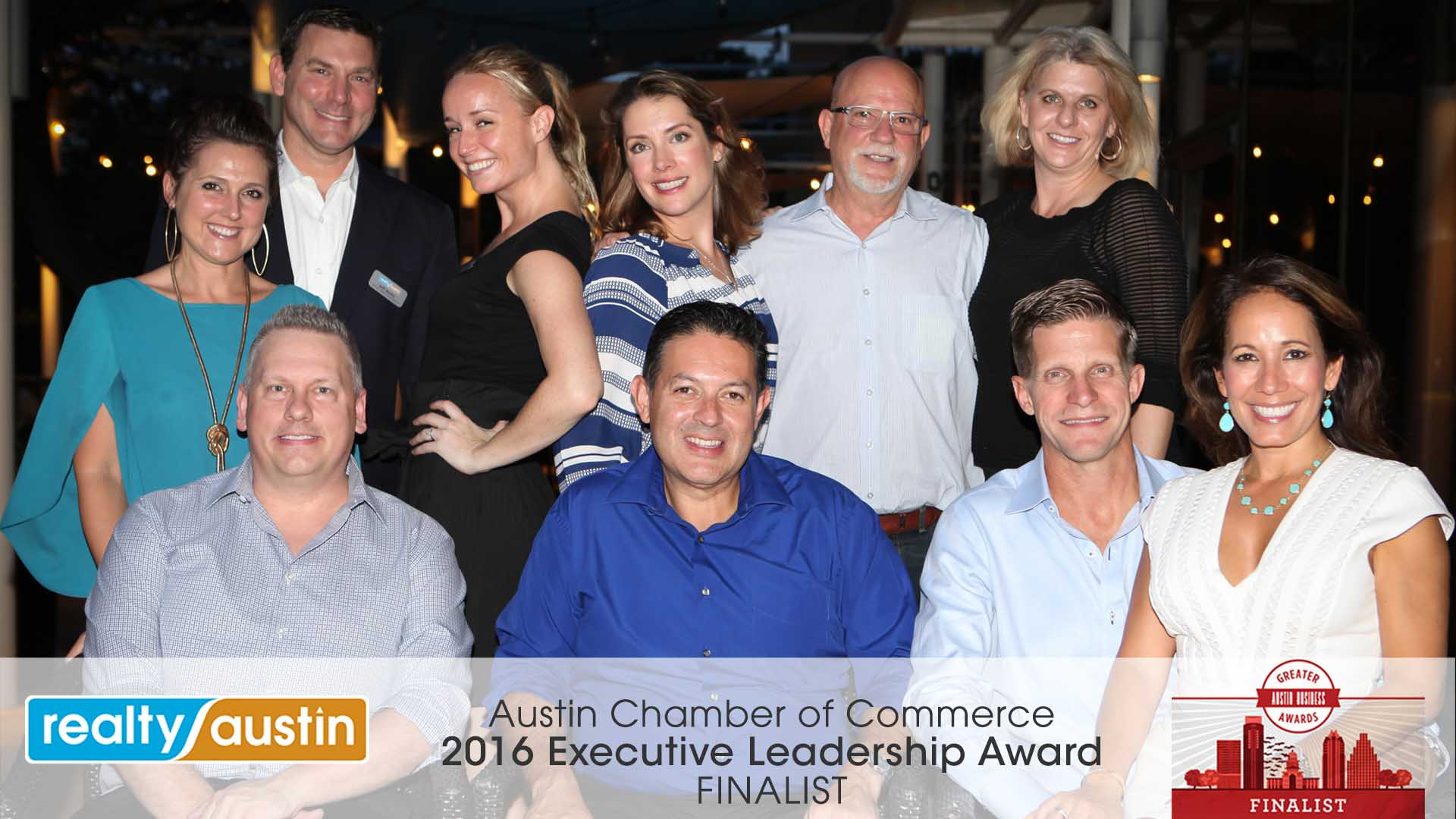 Image of Realty Austin Leadership Team at Greater Austin Business Awards