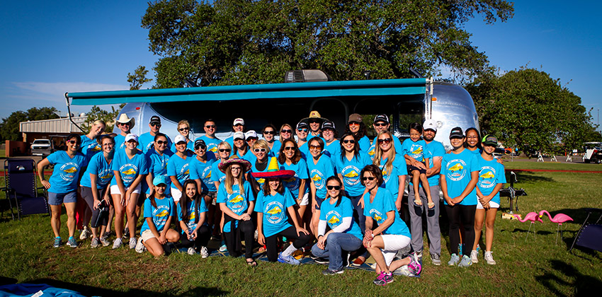 Image of Realty Austin volunteers at Touch-A-Truck