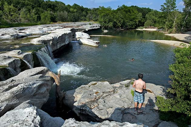 The Definitive Guide to Austin's Best Swimming Holes - McKinney Falls - Realty Austin